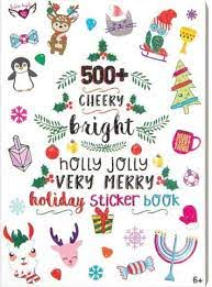 500+ Very Merry Holiday Sticker Book