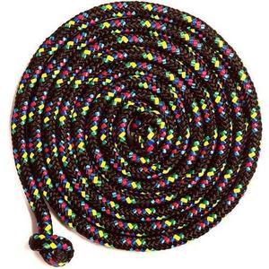 8' Confetti Jump rope Black