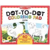 ABC Dot to Dot Coloring Pad-Farm