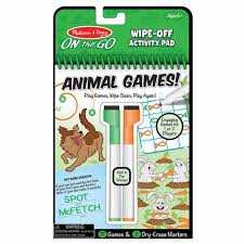 Animal Games Wipe Off Activity Pad