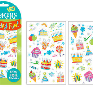 Birthday Icons Foil Stickers