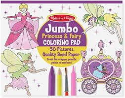 Jumbo Coloring Pad-Princess & Fairy
