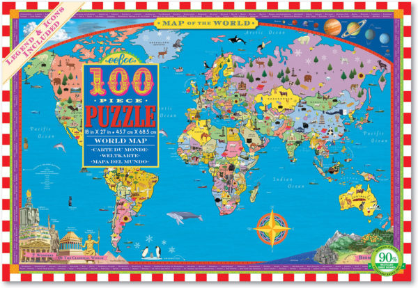World Map 100 Piece Puzzle