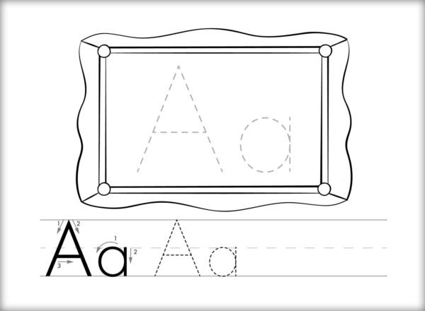 Color & Learn Alphabet Flash Cards