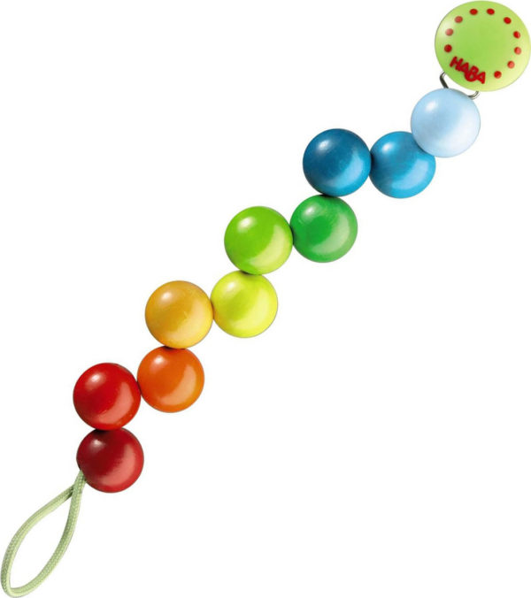 Pacifier Chain Rainbow Pearls