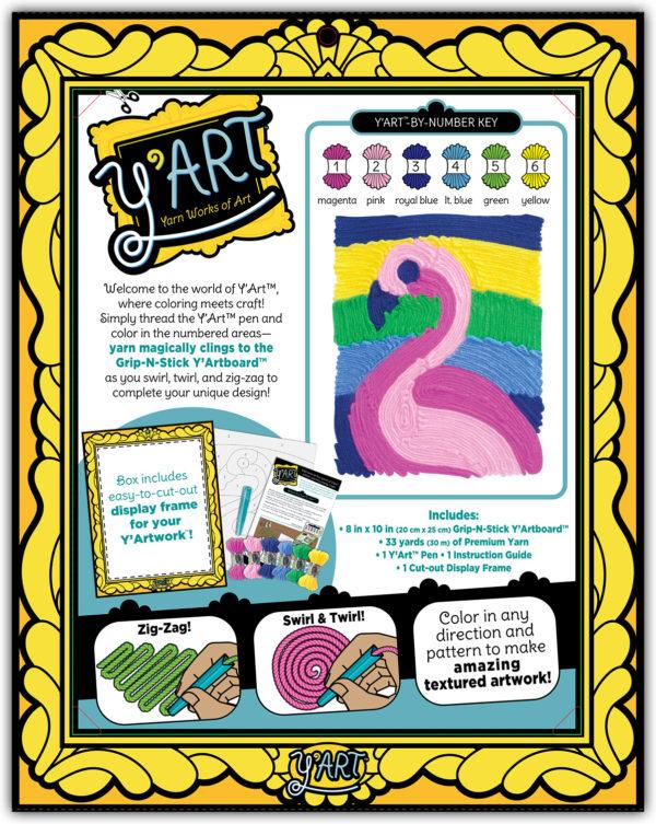 Y'Art Craft Kit - Flamingo