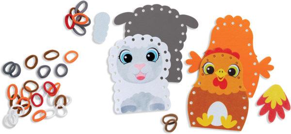 Loop It! Farm Puppets Beginner Craft Kit