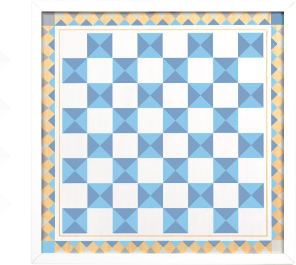Wooden Chess & Pachisi - Blue