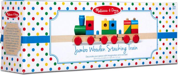 Jumbo Wooden Stacking Train - Classic