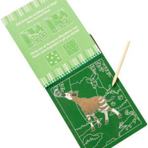 On the Go Scratch Art Color Reveal Pad - Safari