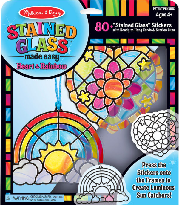 Stained Glass Made Easy - Rainbow & Hearts Ornaments