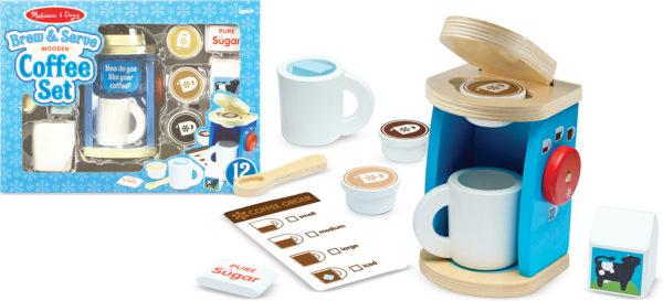 Wooden Brew & Serve Coffee Set
