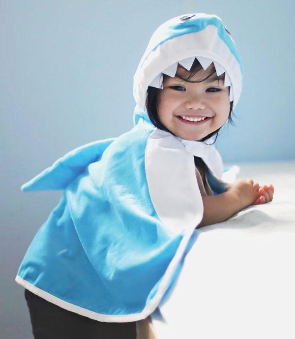 Toddler Shark Cape - Size 2-3