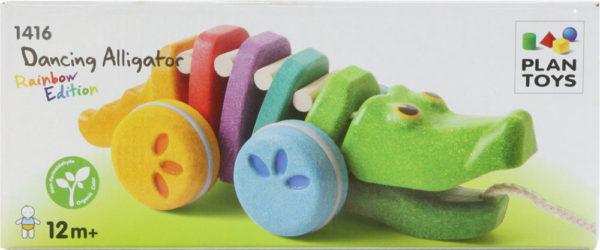 Plan Toys Dancing Rainbow Alligator Pull Toy