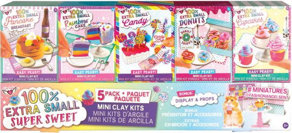 100% Extra Small Super Sweet Mini Clay Kits - 5 pack