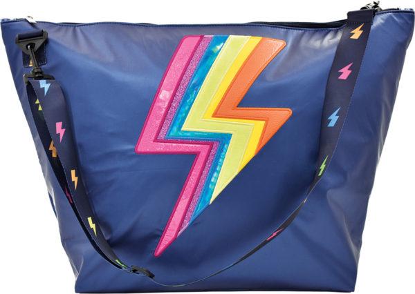 Navy Lightning Weekender Bag