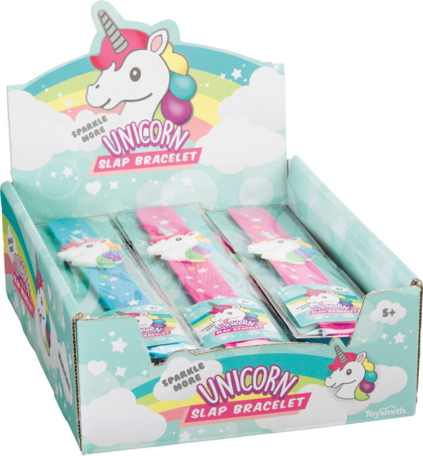 Sparkle More Unicorn Slap Bracelet