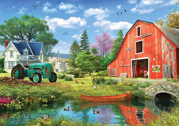 The Art of Dominic Davison Puzzles - The Red Barn