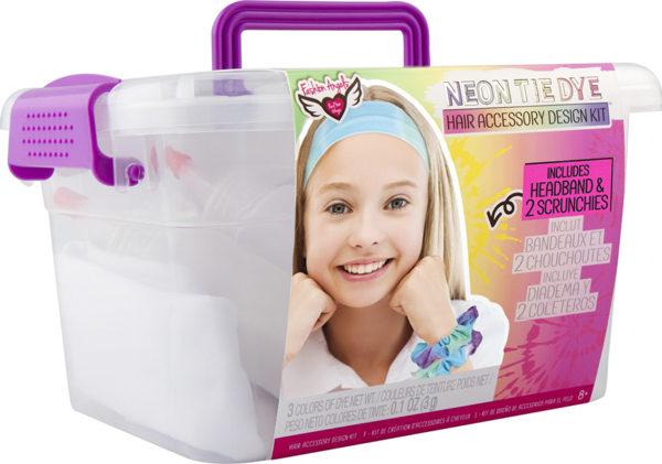 Neon Tie Dye Hair Accessory Design Keeper Crate
