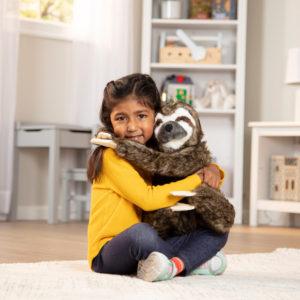 Lifelike Plush Sloth