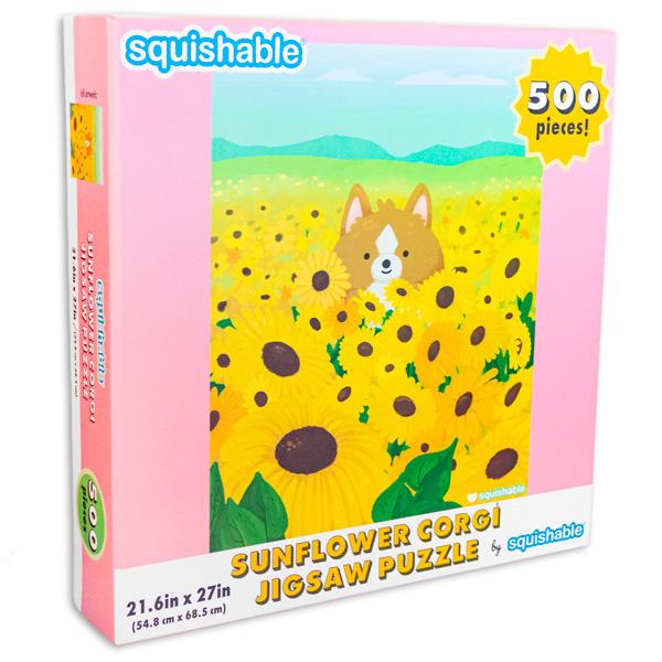 Sunflower Corgi puzzle