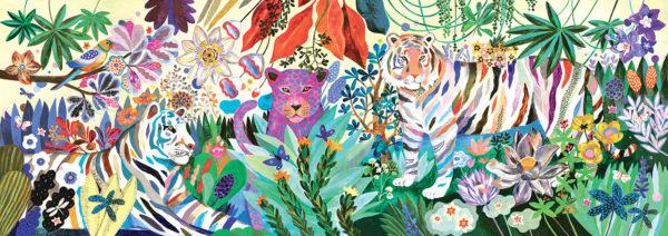 Gallery Puzzles Rainbow Tigers - 1000pcs