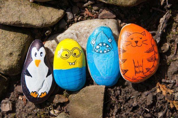 Hide & Seek Rock Painting Kit (weight varies due to natural rocks)