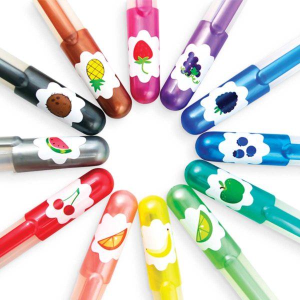 Yummy Yummy Scented Glitter Gel Pens - Set of 12