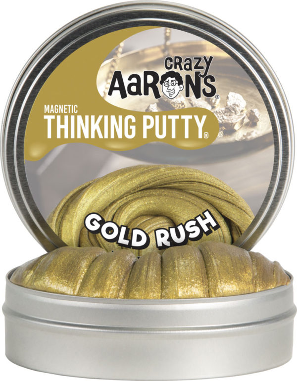 Crazy Aaron's Magnetic Gold Rush Thinking Putty