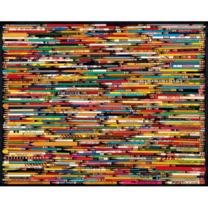 Pencil Collage Challenging Jigsaw Puzzle-White Mountain Puzzles