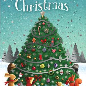 Little Sparkly Sticker Book Christmas