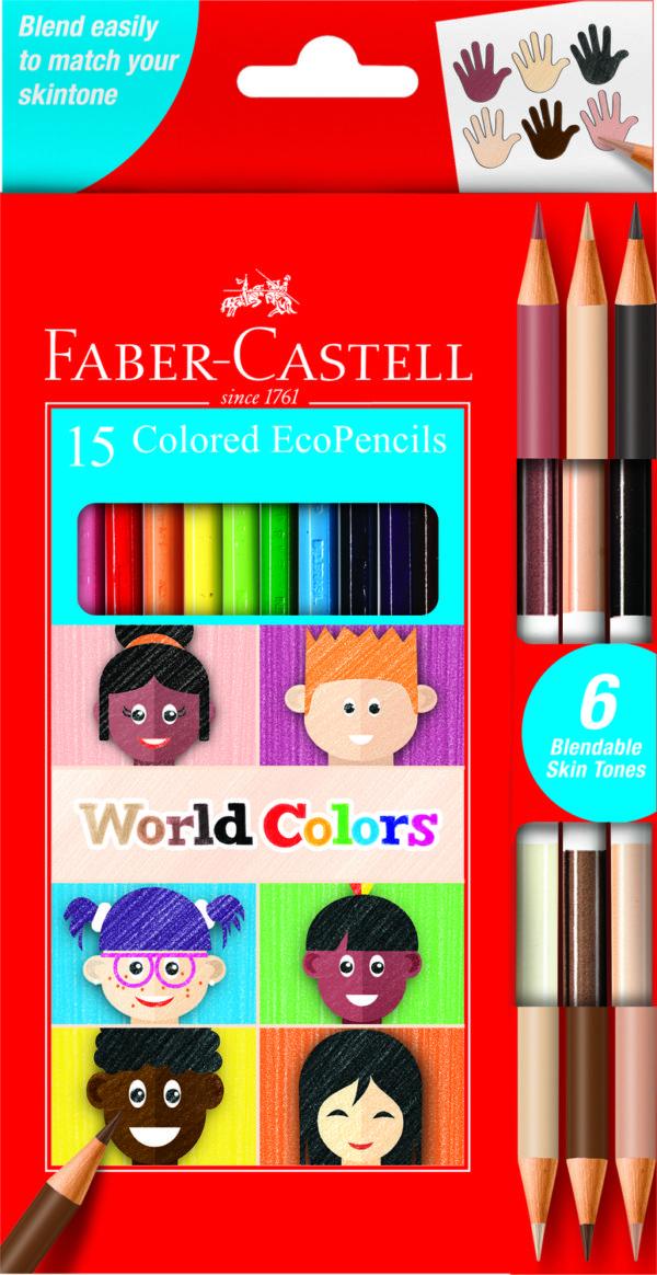 World Colors - 15 Colored Ecopencils