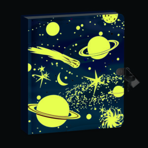 Deep Space Glow-In-The Dark Diary