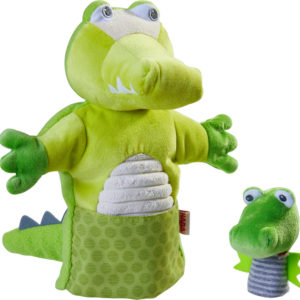 Crocodile Puppet with Hatchling