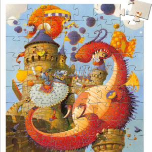 Silhouette Puzzles Vaillant And The Dragon - 54pcs