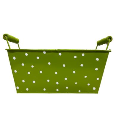 Green Metal Basket