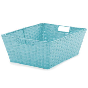 Large Turquoise Rectangular Basket