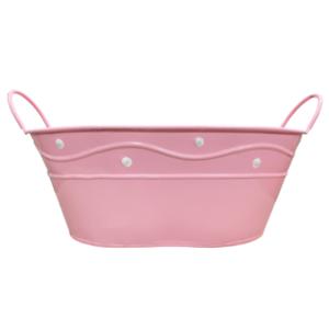 Light Pink Metal Basket