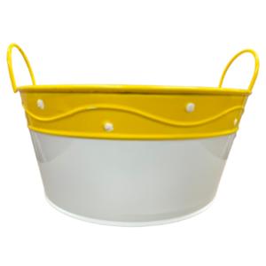 Yellow Metal Basket