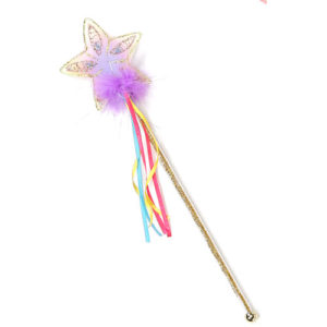 Glitter Rainbow Wand (multi Pastel Gold)