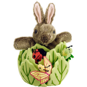 Hide-Away Puppets - Rabbit in a Lettuce With 3 Mini Beasts