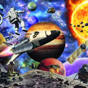 60 Pc Explore Space Puzzle