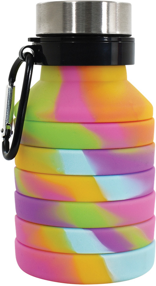 Tie Dye Silicone Collapsible Water Bottle
