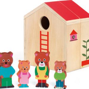 Djeco Minihouse Wooden Dollhouse Set