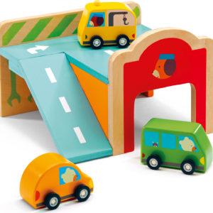 Djeco Minigarage Wooden Automobile Set