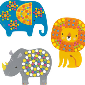 Djeco Soft Jungle Sticker Mosaic Collage Craft Kit