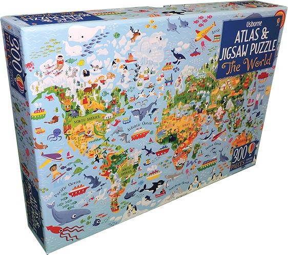 World, The - Atlas & Jigsaw Puzzle (Ir)