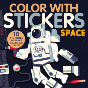 Color With Stickers- Space