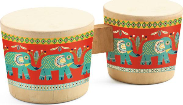 Djeco Animambo Bongo Drums Musical Instrument