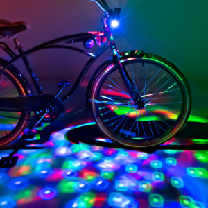 Cruzinbrightz Red/ Green/ Blue Led Bicycle Projection Light